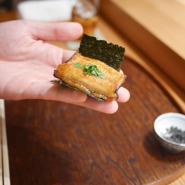 天草天然鰻の手巻き鮨
