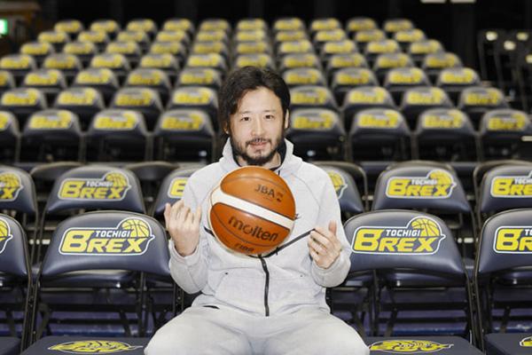 誰よりもバスケットボールを持つ姿が似合う。(撮影/熊谷貫)