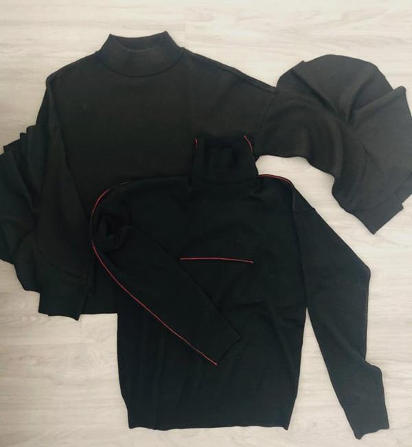 お袖コンシャスなMUVEIL WORK(左)とラインがポイントのMM6。ちょいデザインなほうがアラを隠せます