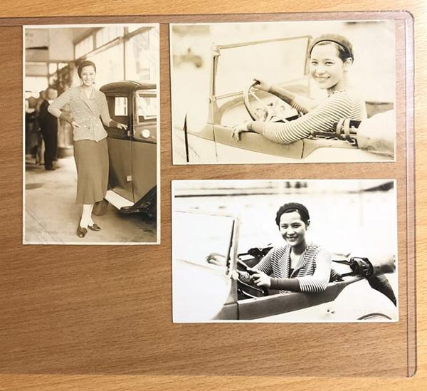松竹少女歌劇団のトップスター、ターキーこと水の江瀧子のブロマイド。やはりクルマとトップスターは当時から関係があったようだ。昭和初期のもの(小針さん所蔵)