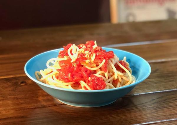 ホカホカあつあつ、パスタはシチリア方式、小鍋で作る