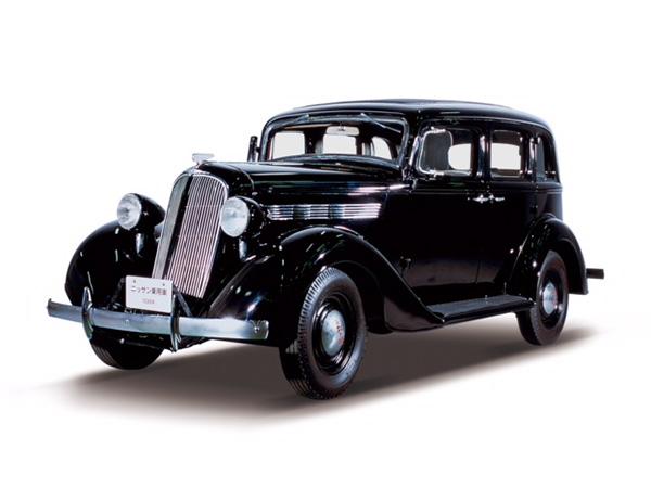 ニッサン70型乗用車。「ニッサン」ブランド第一号モデル。こちらは1938年(昭和13年)式 (写真提供/日産自動車株式会社)