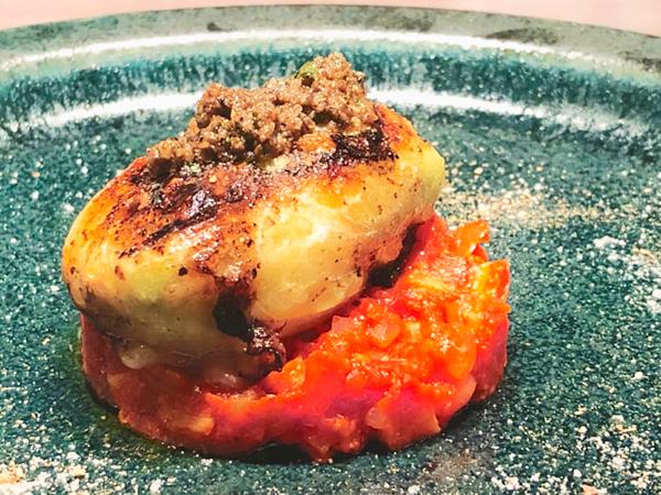 「エイヒレと高原野菜キャベツのファルシー ポルチーニ茸とトリュフのブールノワゼット」