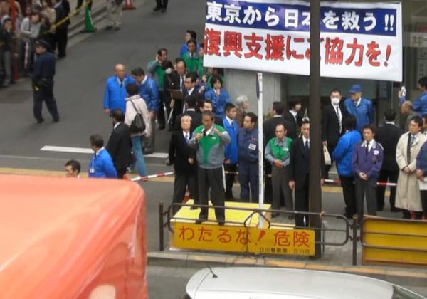 2011年の都知事選。石原氏の街頭演説は最終日の1回だけだった。(撮影/畠山理仁)