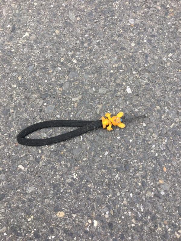 都内の路上にて発見。ベッキーのものだとしたら、この数倍はあるので、落としたことに気づかないままかもしれない。(写真/ダーシマ)