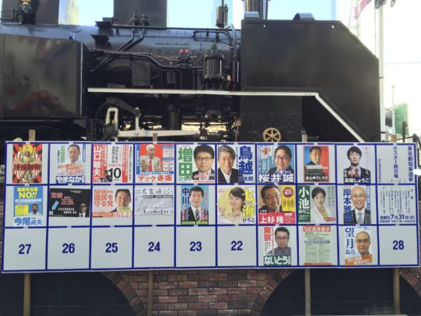 前回2016年の都知事選ポスター。都知事選史上最多の21人が立候補。みなさんは何人覚えているだろうか?(撮影/畠山理仁)
