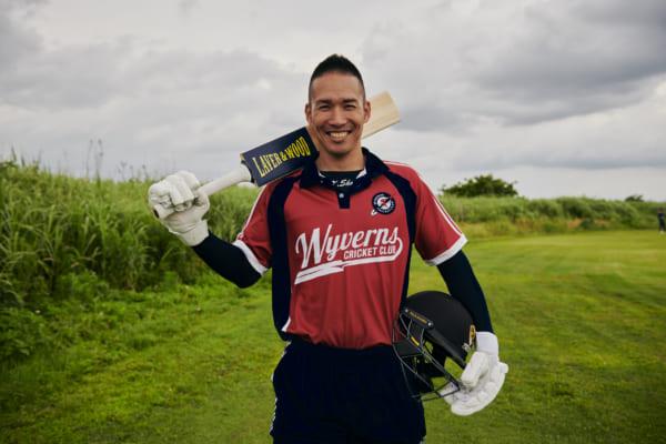 野球からクリケットに転身して2年目。さわやかな笑顔が印象的だ。(撮影/熊谷貫)