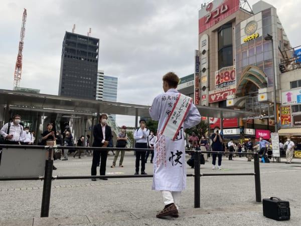 印象に残った中野駅北口での演説。西本誠はこれからも選挙に出続けるつもりだ。(撮影/畠山理仁)
