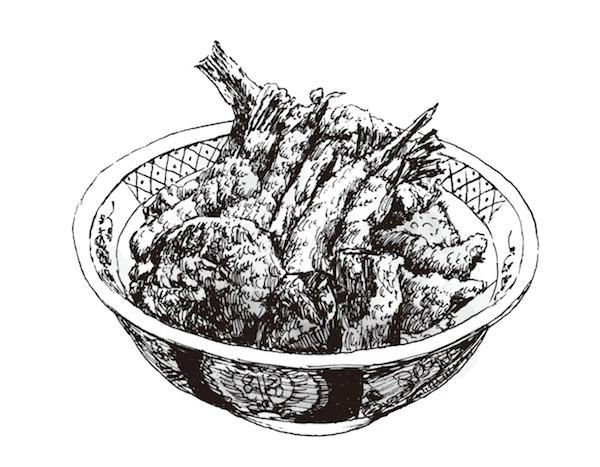 「ひろみ」の天丼がなければ生まれていない作品があったかも……?(イラスト/阿部伸二)。