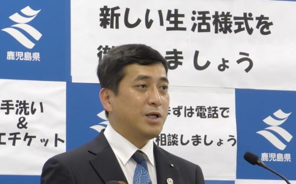 塩田康一新鹿児島県知事の就任会見。実は筆者がここに参加できたことは大きな変化だった。(撮影/畠山理仁)
