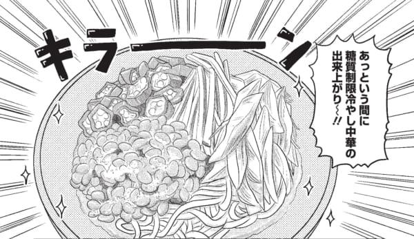 コンニャク麺を利用した糖質制限・冷やし中華。具だくさんで栄養バランスもばっちり!