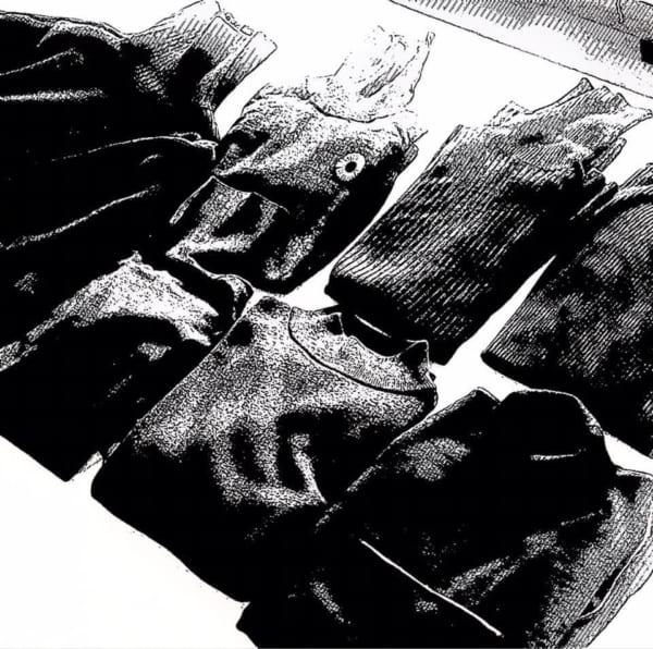 秋冬の衣更えのたびにお出ましになる黒タートル群。いいの、全部好きだから