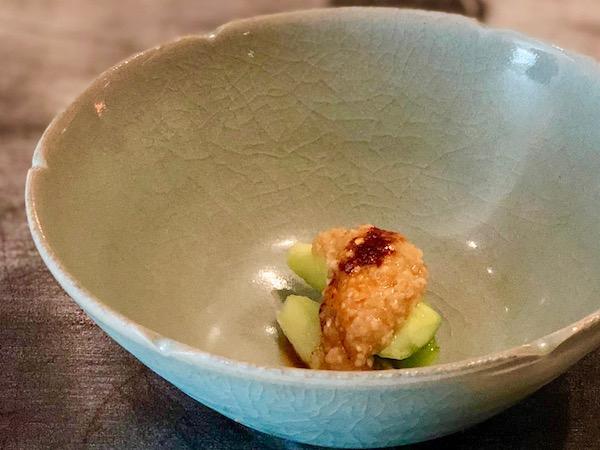 「胡瓜と棒々鶏ソース」
