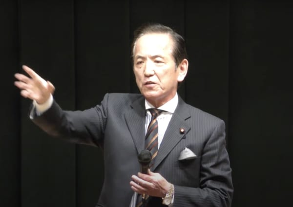 古河市のある「茨城7区」といえばこの人、「無敗の男」中村喜四郎衆議院議員。(撮影/畠山理仁)