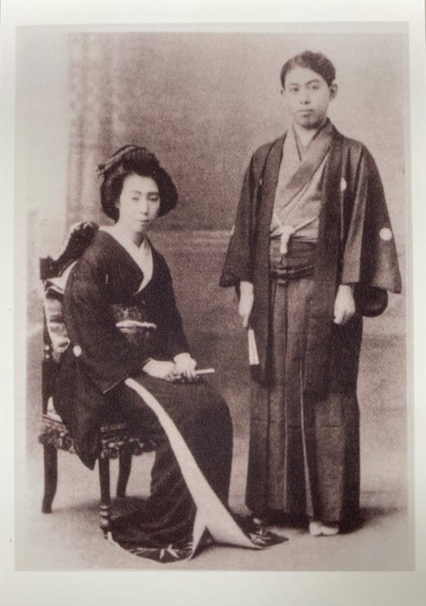 谷崎潤一郎と最初の奥さん、千代/芦屋市谷崎潤一郎記念館提供