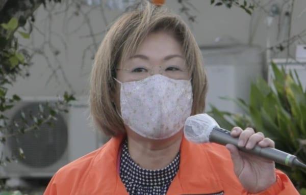 そして「茨城7区」のもうひとりは、自民党公認の永岡桂子衆議院議員。(撮影/畠山理仁)