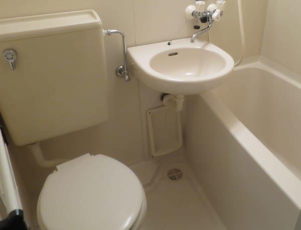 おそらく、こんな感じのユニットバストイレだった。永住するには向いてない
