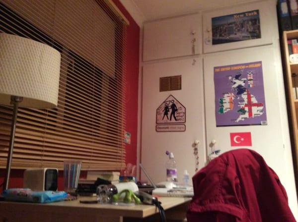 サリーが与えてくれた部屋。子ども部屋の雰囲気だ。ここに2週間寝泊まりさせてもらった。