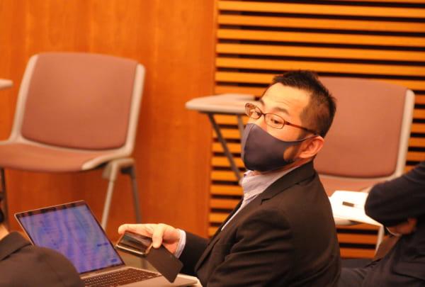1月4日の菅総理念頭会見に「くじに当たり」参加した畠山氏。しかし質疑応答はわずか17分。畠山氏や海外プレスの質問に答える機会はなかった。(撮影/小川裕夫)