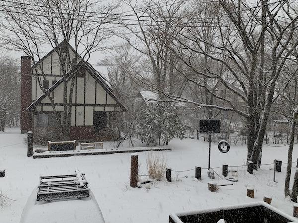 ドカ雪が降った2020年3月29日の山中湖村。