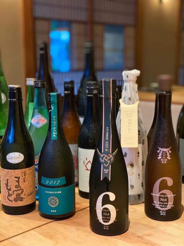 お米に焦点を当てたお店らしく日本酒のラインナップが豊富