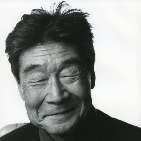 74歳の草野心平(小林正昭撮影)(写真提供/草野心平記念文学館)