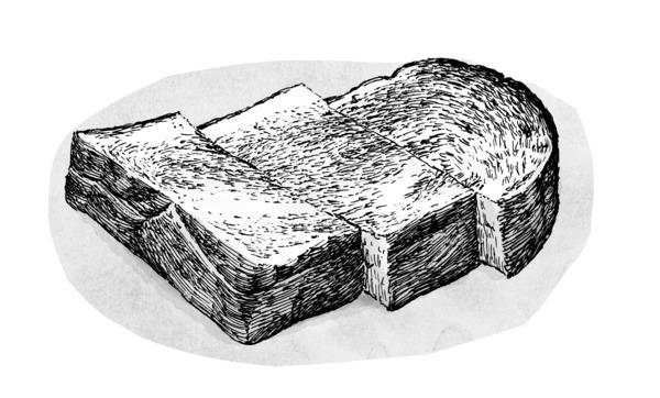 こんがり厚切り食パンにたっぷりバターは不変の美味しさ