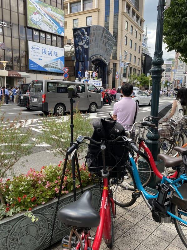 今回の取材ではレンタル自転車が大活躍。(撮影/畠山理仁)