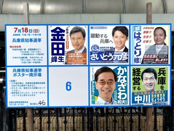 この5人を多くのメディアがしっかり取り上げていた。それだけに低い投票率は残念だ。(撮影/畠山理仁)